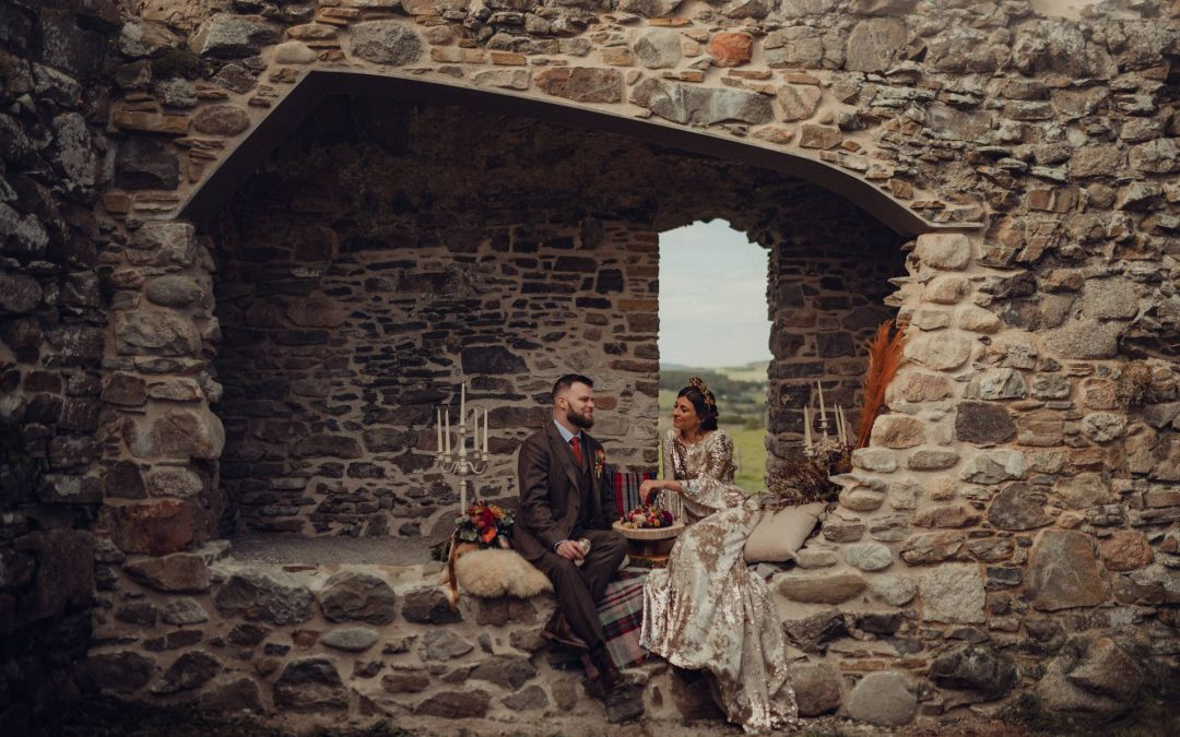 A Mystical, Magical, Styled Highland Wedding Shoot in the Cairngorms Part 2