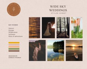 The moodboard for this styled shoot.